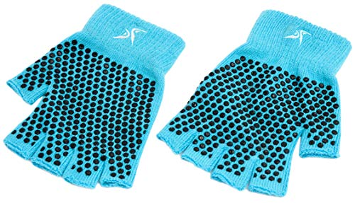 Prosource Fit Grippy Yoga Gloves, One Size Fits All, Non-Slip Fingerless Design in Multiple Colors