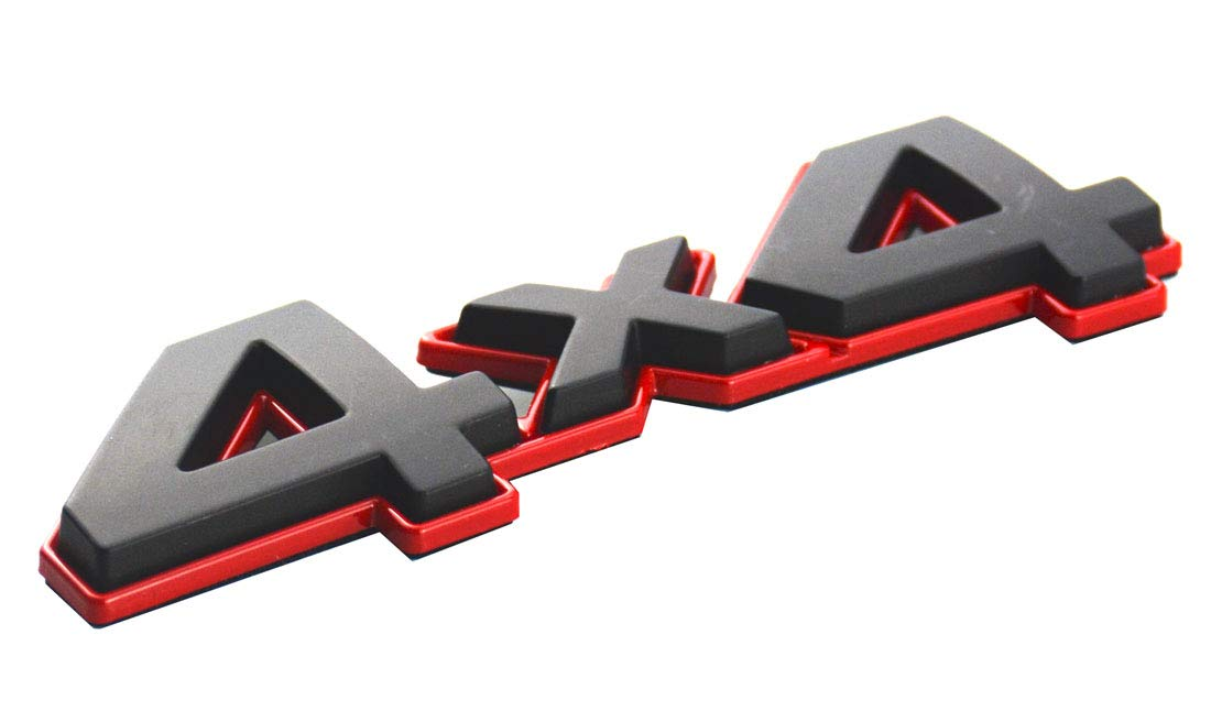 Aimoll 1Pc 4x4 Emblem Badge Nameplate 3D Car Sticker Decal Replacement for Tundra Rear Tailgate 2005-2018 4 X 4 Black Red