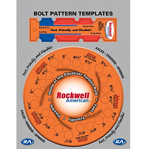 Johnson Trailer Parts 5 Lug Bolt Pattern Template ()