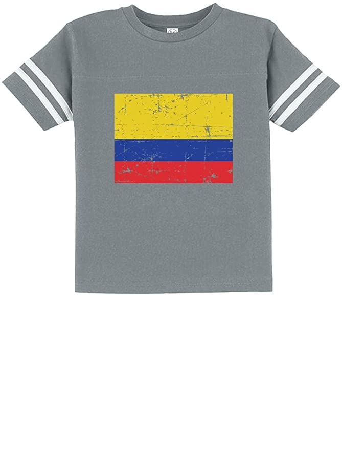 c9169517465 Amazon.com  TeeStars - Colombia Flag Vintage Style Retro Colombian Toddler  Jersey T-Shirt  Clothing