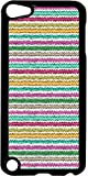 Wavy Chevron Stripes- Case for the Apple Ipod 5th Generation-Hard Black Plastic