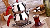 Aldante Stainless Steel Turkish Tea Pot Size No:2