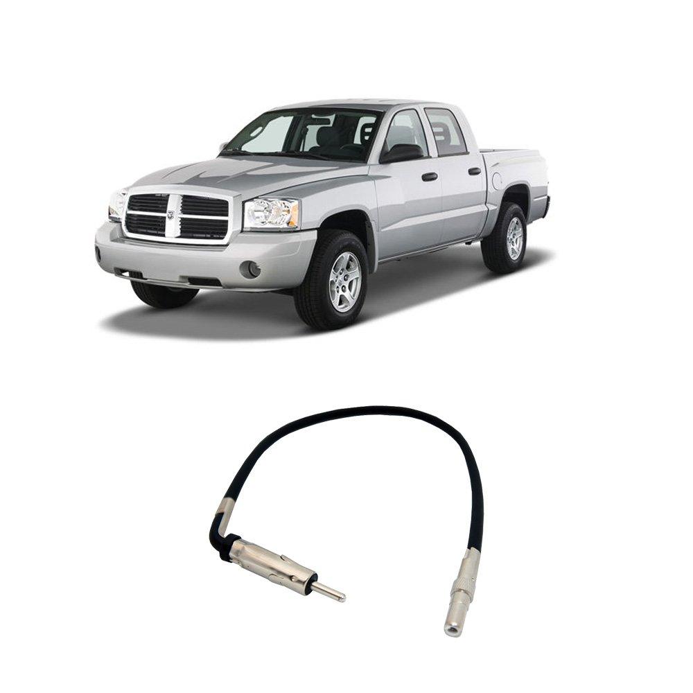 Fits Dodge Dakota 2002 2007 Factory Stereo To Wiring Harness Amazoncom Wire Ram Aftermarket Radio Antenna Adapter Plug Car Electronics