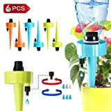 Adjustable Self Watering Spikes. Automatic Vacation Drip Irrigation Watering Devices,Care Your Indoor & Outdoor Home Office Plants-6 Pack