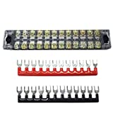 IZTOSS 12 Positions 600V\15Amp terminal block kits Terminals Included Red and Black 2 Pcs