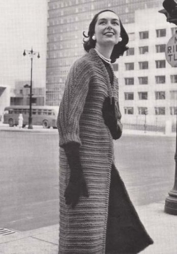 The New Yorker Coat Sweater Jacket Vintage Knit Knitting Pattern