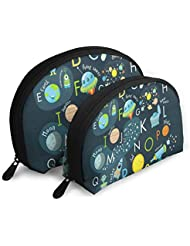 Makeup Bag Space English Alphabet Portable Shell Beauty Bags Storage For Women
