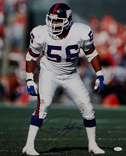Lawrence Taylor Autographed New York Giants 16x20 On Field Photo- JSA W (Lawrence Taylor Autographed Photo)