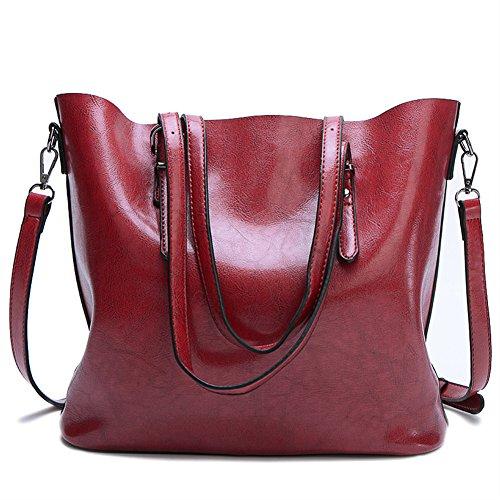 Top Purse Satchel Handle Shoulder Bag Handbags EnllerviiD Women's Tote Wine Red gFq6w8ntWt