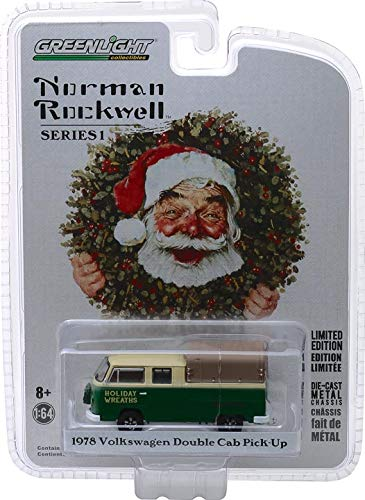 Norman One Light - Greenlight - Norman Rockwell Collection Series 1-1978 Volkswagen Double Cab Pickup with Canopy
