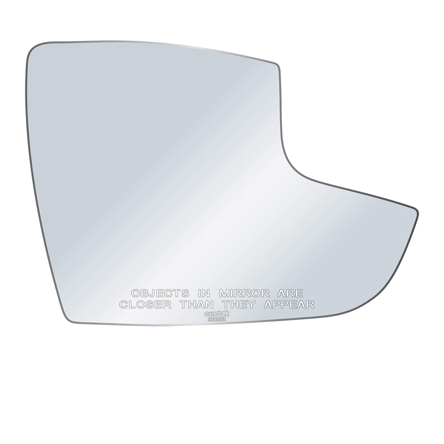 exactafit 8660R Passenger Right Side Mirror Glass Replacement fits 2012-2018 Ford Focus by Rugged TUFF