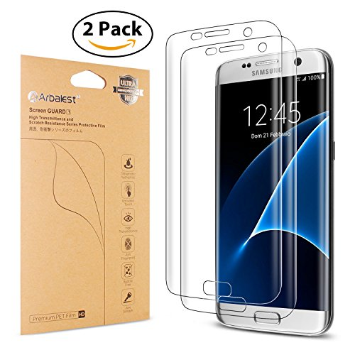 Galaxy S7 Edge Protector [Not Tempered Glass],Arbalest New Generation [Easy Installation] Full Coverage Ultra Clear HD High Definition American Film, [2-PACK]