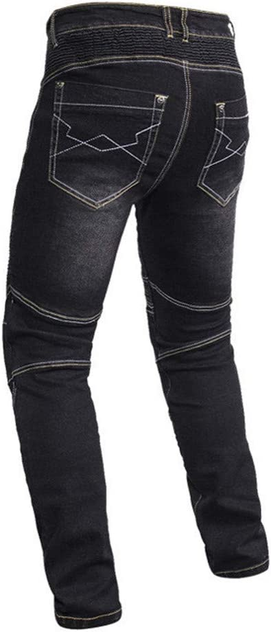 BOLAWOO Pantaloni Denim da Jeans Uomo Pantaloni Strappati
