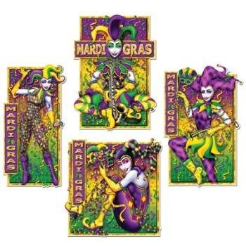 Mardi Gras Masquerade Mime Cutouts 4/Pkg]()