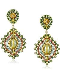 Small Green Jade Lotus Drop Earrings