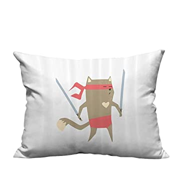 Amazon.com: alsohome Pillowcase with Zipper mCrime Fighter ...
