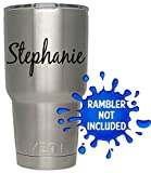 Personalized Name Decal / Tumbler / Custom Vinyl decal / Vehicle graphics sticker (Black)