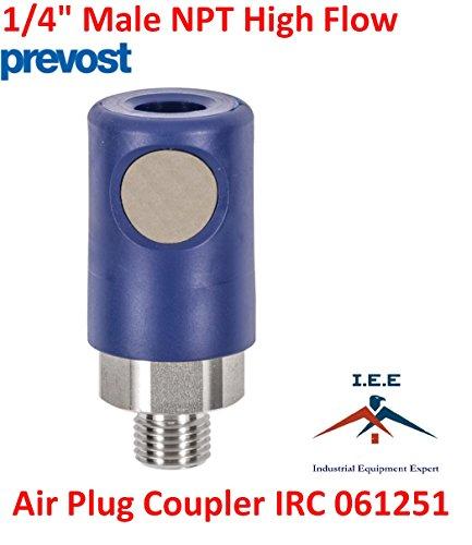 Prevost Silver High Flow Safety Air Plug Coupler IRC 061251 1/4'' MNPT (1) by Prevost