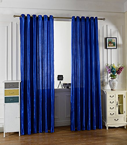 100 x 250CM Pure Color Ring Top Window Curtain(SAPPHIRE BLUE) - 1