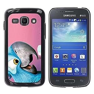TopCaseStore / la caja del caucho duro de la cubierta de protección de la piel - Cool Friendly Parrot - Samsung Galaxy Ace 3 GT-S7270 GT-S7275 GT-S7272