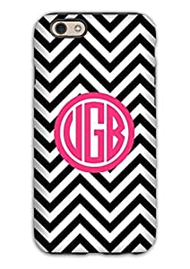 Black and white chevron with popular pink monogram - preppy monogrammed For HTC One M9 Case Cover s cover, cell phone case