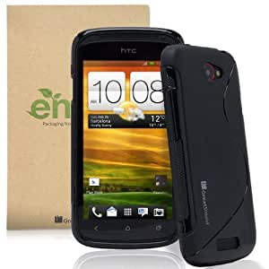 GreatShield Guardian S Series Slim-Fit S Line Design TPU Case for HTC One S - Black