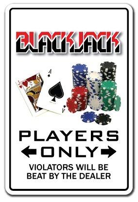 "Blackjack Sign Gambler Parking Black Jack Vegas 21 Gambling | Indoor/Outdoor | 14"" Tall"