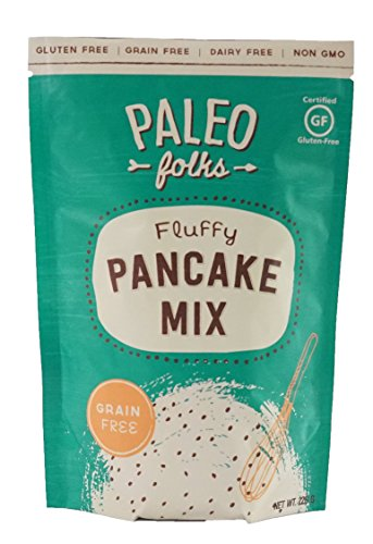 Paleo Folks Fluffy Pancake Baking Mix - Perfect Dairy Free, Grain Free, Gluten Free, Soy Free, & Refined Sugar Free Snacks - Made With Organic Ingredients - non GMO - 226 Grams Per Package