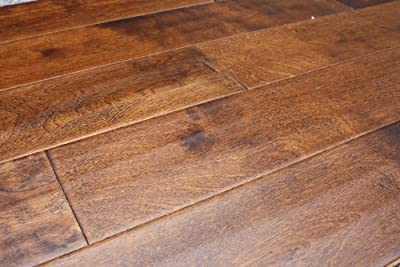"Elk Mountain Maple Butterscotch 7/16"" x 4-3/4"" Hand Scraped Engineered Click Lock Hardwood Flooring AH265 SAMPLE"