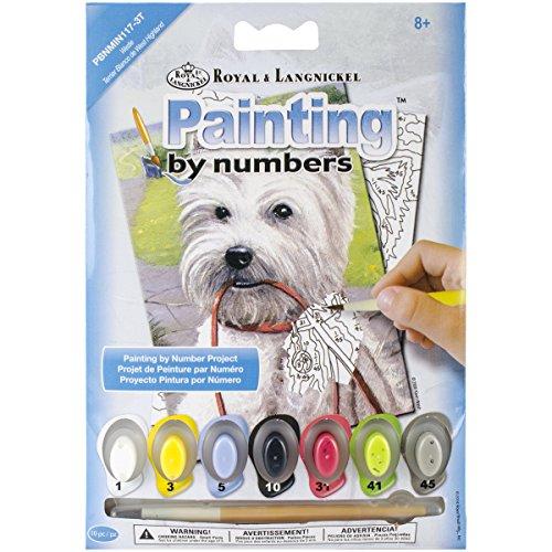 ROYAL BRUSH PBNMIN-117 Westie Mini Paint by Number Kit, 5