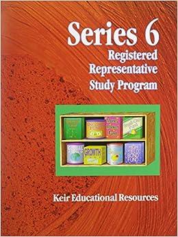 Book Series 6 Registered Representative Study Program