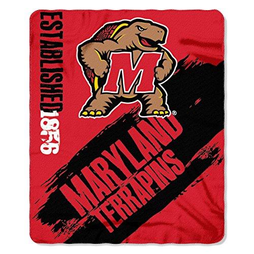 College Fleece Blankets - Officially Licensed NCAA Maryland Terrapins Painted Printed Fleece Throw Blanket, 50