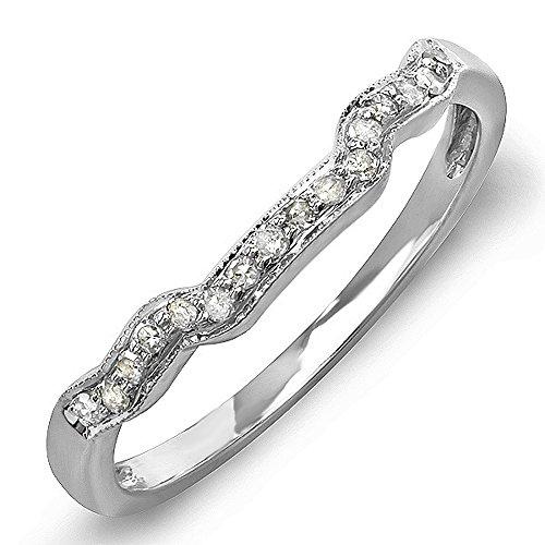 015-Carat-ctw-14k-White-Gold-Round-Diamond-Ladies-Anniversary-Wedding-Ring-Band-Enhancer-Guard
