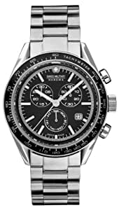 Swiss Military 06-5135.04.007 - Reloj cronógrafo de caballero de cuarzo con correa de acero inoxidable plateada