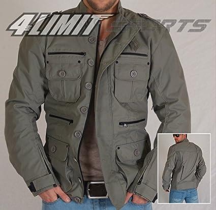 4LIMIT Sports Blouson moto Gentleman outdoor-sport veste en tissu Cordura gris