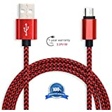 Micro USB Cable 2pack 3ft Nylon Braided Fast Quick Android Charger Cord for Samsung Galaxy S7/S6 Edge, Note 5/4/2, Amazon Kindle Fire, Paperwhite, Voyage, Oasis, Tap, HD, HDX, TV Stick, Echo