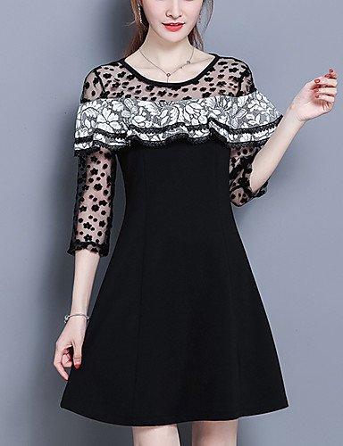 White XL GAOLIM Womens Dress Spring Dress Sleeve Type A Dress