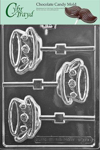 Cybrtrayd Life of the Party D110 Teacup & Saucer Lolly Chocolate Candy Mold in Sealed Protective Poly Bag Imprinted with Copyrighted Cybrtrayd Molding Instructions