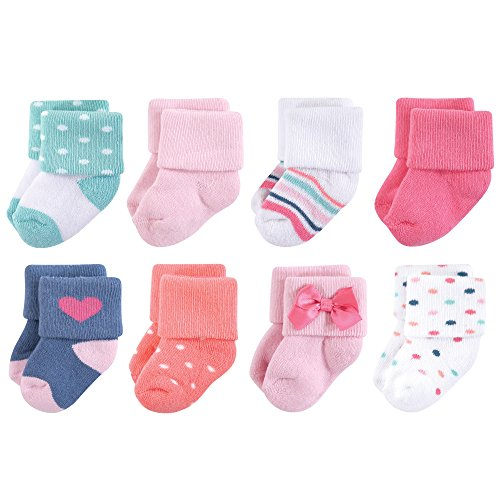 Little Treasure Baby Terry Socks, 8 Pack, Confetti, 6-12 Months