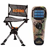 Chama Chair All-Terrain 360° Swivel Hunting/Camping Chair (Gray) w/Thermacell MR-TJ Portable Mosquito Repellerin Realtree Camo