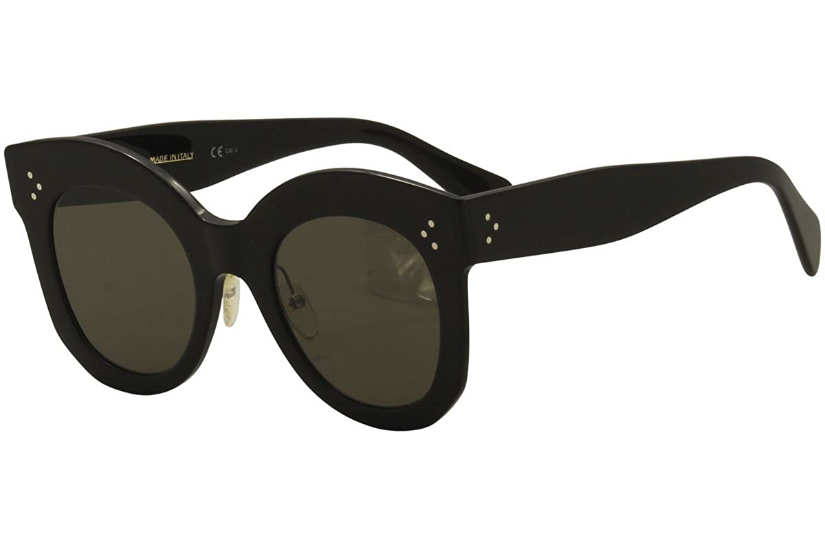 fe76b74b5b Celine CL41443 S 06Z Black Chris Round Sunglasses Lens Category 3 Size 50mm  at Amazon Men s Clothing store