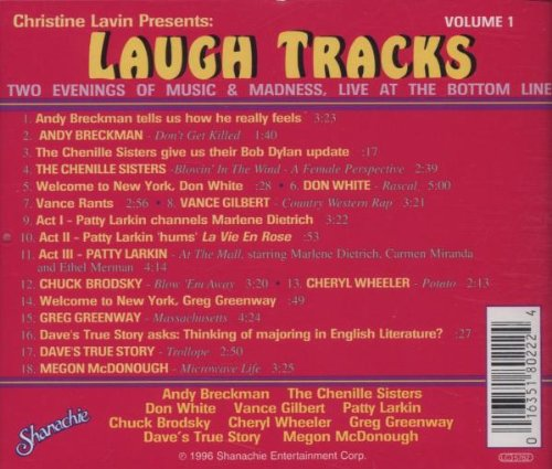 Christine Lavin Presents: Laugh Tracks, Volume 1 -Two Evenings of Music and Madness, Live at the Bottom Line