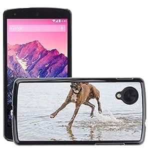 Super Stella Slim PC Hard Case Cover Skin Armor Shell Protection // M00149821 Animal Dog Snout Friendship Fun // LG Nexus 5