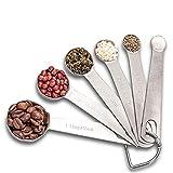 Measuring Spoon Set, Stainless Steel Measuring Spoons, Set of 6 Metal...