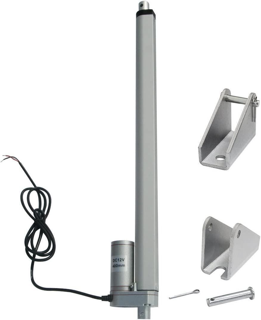 ECO-WORTHY 450MM 12V Linear Motor Actuator Heavy Duty 330lbs Solar Tracker Multi-Function for Electroic,Medical,Auto Use