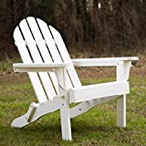 Essentials by DFO White Folding Adirondack Chair