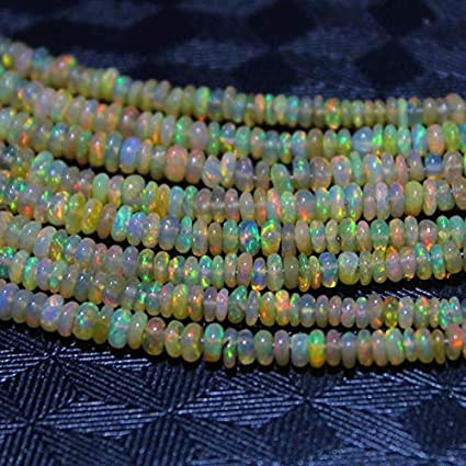 4x3.5  mm size 45 piece strand Natural Ethiopian Opal Beads Welo Opal Flashy Fire Beads Amazing Beads Wholesale Gemstone