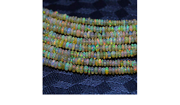 43.9 Cts Natural Ethiopian Opal Orange Smooth Roundel Faceted Multi Wello Fire Beads Strands Good Quality Wholesale 18 Necklace