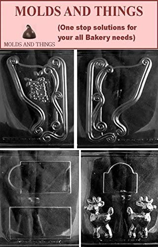 Amazon.com: EX-LARGE SLEIGH Chocolate Candy Mold, SLEIGH Chocolate Candy Mold With Exclusive Copyrighted Chocolate Making Instruction: Kitchen & Dining