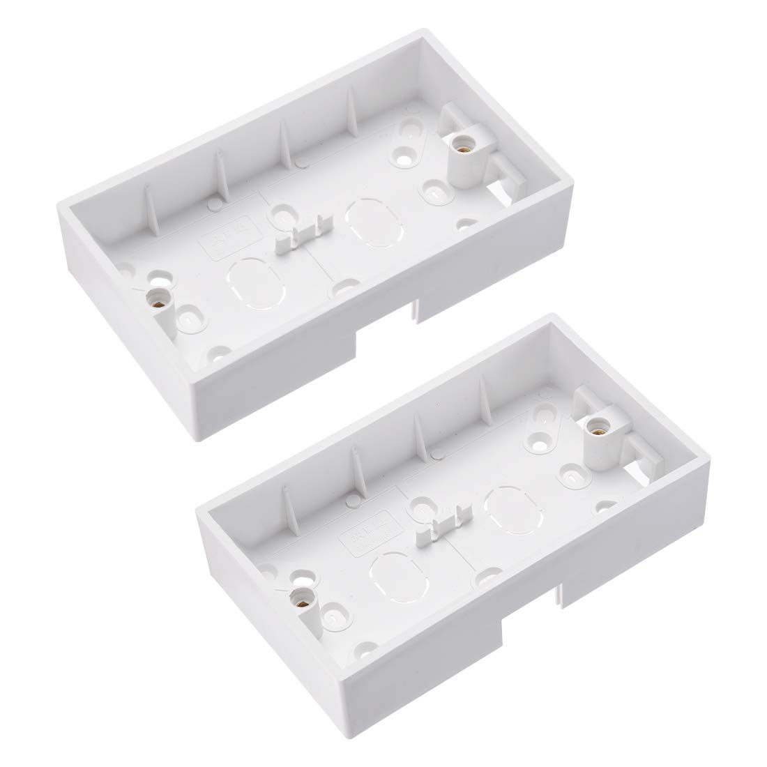 uxcell Wall Switch Box Deep Case Recessed Mount 86 Type Single Gang White 6pcs